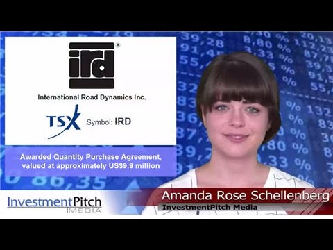 International Road Dynamics (TSX: IRD) awarded Quantity Purchase Agreement, valued at US$9.9 million