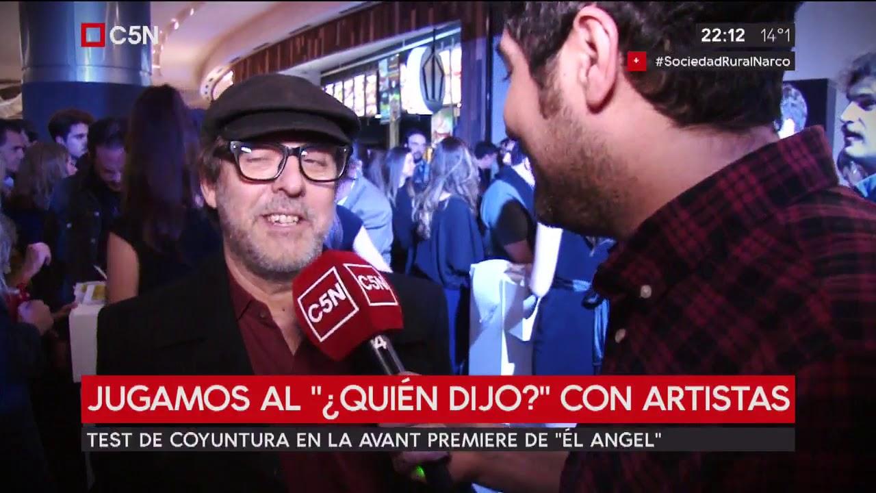 """ADN: Jugamos al """"¿quién dijo?"""" con artistas en la avant premiere de """"El Ángel"""""""