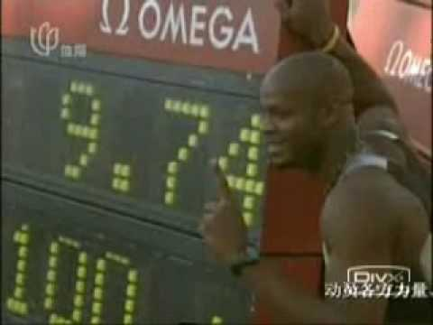 100m world record (men), the correct record not the 9.77