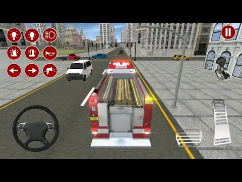 Real fire truck driving simulator | Fire fighting | Android games gameplay #5