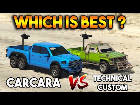 GTA 5 ONLINE : TECHNICAL CUSTOM VS CARACARA (WHICH IS BEST?)