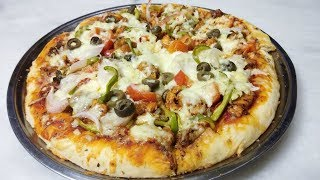Tikka Pizza Without Oven Recipe by Cooking With Shabana