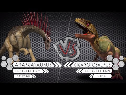 Amargasaurus VS Giganotosaurus Dinosaurs Colosseum Battle