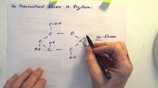 Glucose - Darstellung in der Ringform