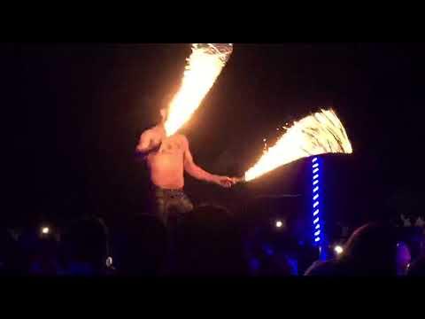Sky Travel Holidays fire dance stunts in Desert Safari Dubai
