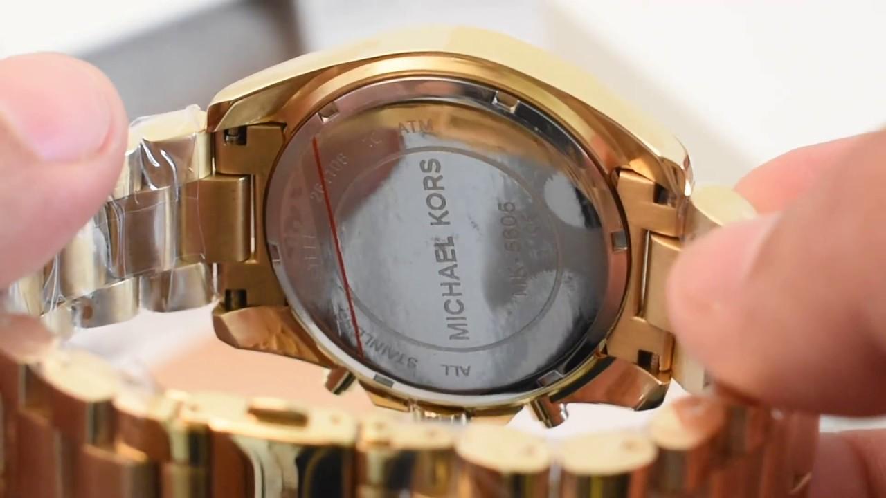 eb6c549fc Relógio Michael Kors MK5605 Original - YouTube