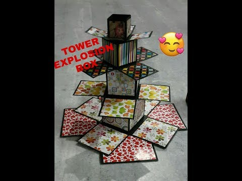 TOWER EXPLOSION BOX TUTORIAL | RAKHI | TEACHERS DAY | BIRTHDAY | ANNIVERSARY | FRIENDSHIP DAY