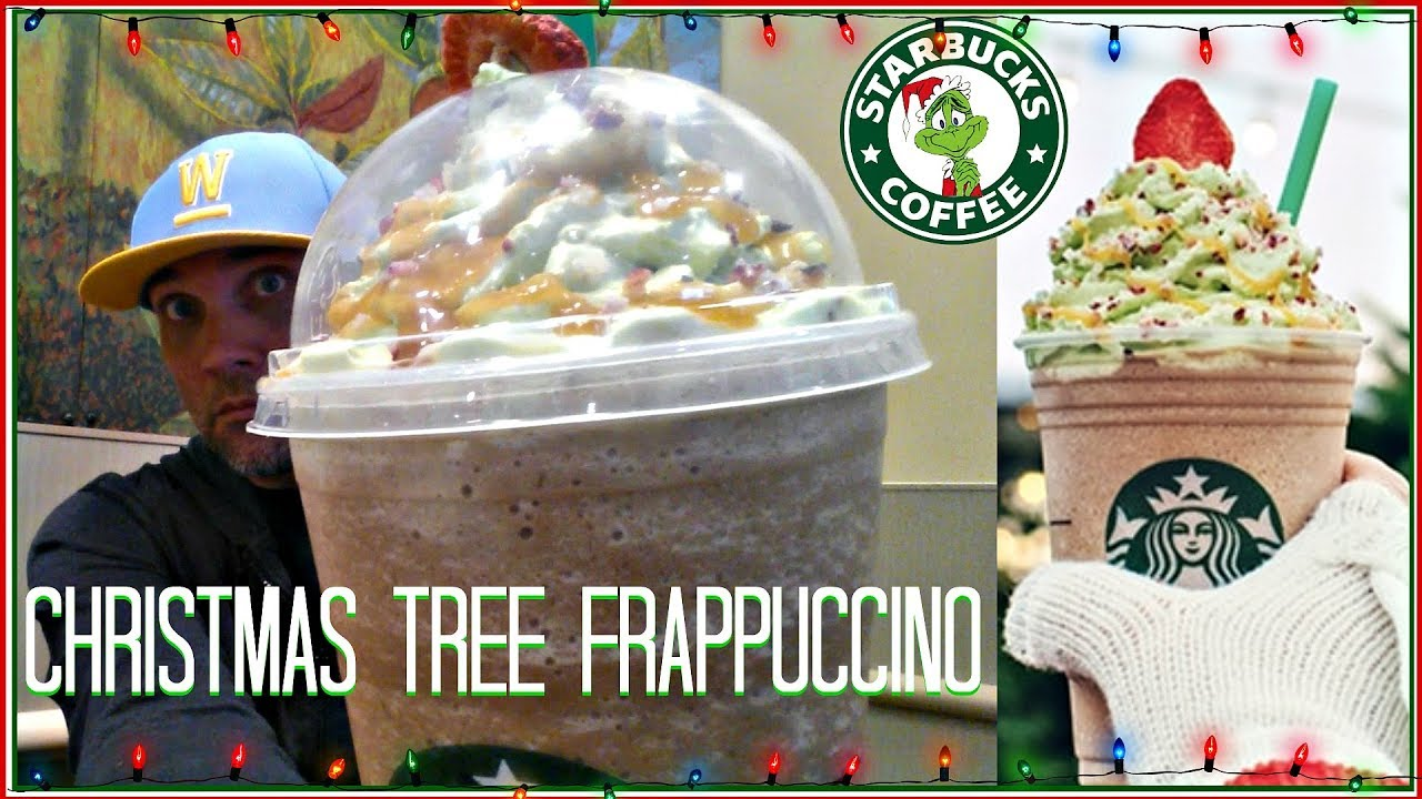 Starbucks Christmas Tree Frappuccino Review Youtube
