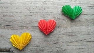 як зробити серце з паперу своїми руками відео російською