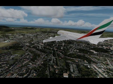 [P3D] Emirates A380 Landing at Mauritius (FIMP) HD 60FPS
