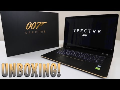UNBOXING & REVIEW - HP SPECTRE X360 - 007 JAMES BOND Laptop