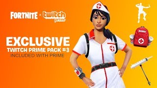NEW TWITCH PRIME PACK #3 RELEASE DATE! FORTNITE TWITCH PRIME PACK 3 LEAKED! NEW FORTNITE FREE SKINS!