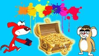 Rat A Tat  Treasure Search Colors Party ★★★ 60 Minute ᴴᴰ  Chotoonz Kids Funny Cartoon Videos