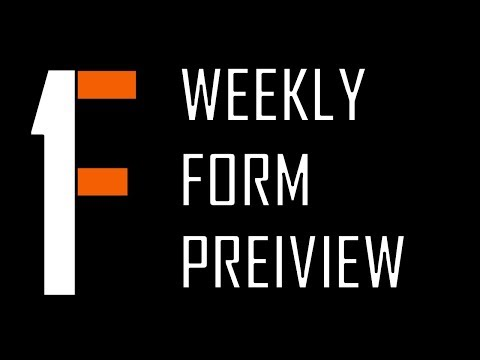 Weekly Form Preview - 4.23.18