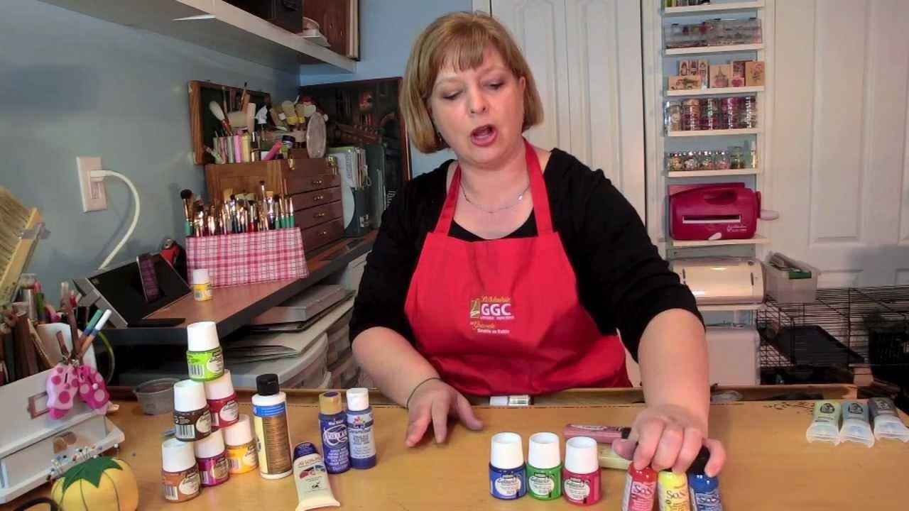 les peintures à tissu, clip#13 - youtube - Comment Faire De La Peinture Pailletee