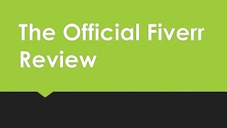 Fiverr Review- Why Should You Sign Up? Check Out My Review and Gig Recommendations