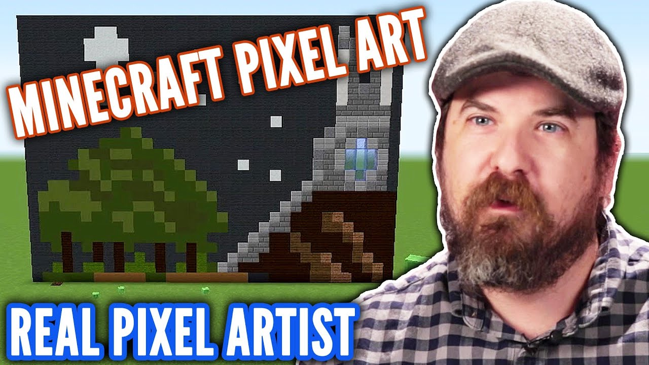 Real Artist Designs Pixel Art In Minecraft Professionals Play
