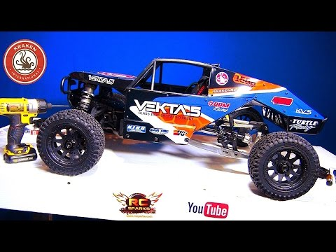 RC ADVENTURES - Upgrading a GiANT! KRAKEN VEKTA.5 Class 1500 Unlimited Race Buggy - PT 1 - 1/5 Scale