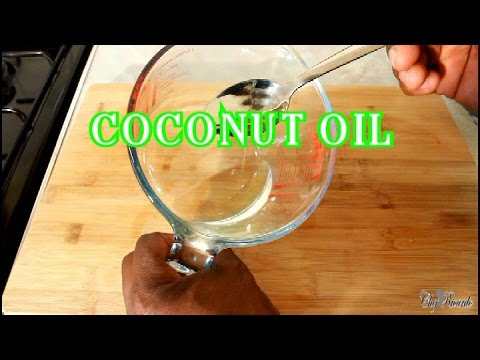 COCONUT OIL HOW TO MAKE JAMAICA COCONUT OIL AT HOME  JAMAICAN RECIPE