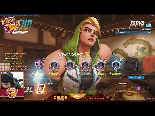 Overwatch Ranked feat. Dizzy - CSUDH Esports (04/04/2020)