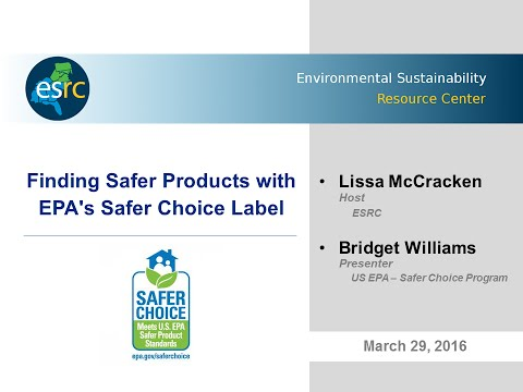 Finding Safer Products with EPA's Safer Choice Label
