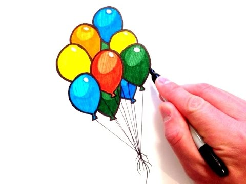 How to Draw Balloons - YouTube