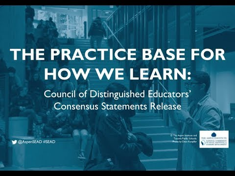 COUNCIL OF DISTINGUISHED EDUCATORS Consensus Statements of Practice Release