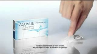 ACUVUE Oasys Contacts TV Commercial(Get acuvue oasys contact lenses online from PROJECTOOPTICO for reasonable prices. Fast delivery direct to your door order now. http://www.projectooptico.pt., 2013-11-24T18:36:17.000Z)