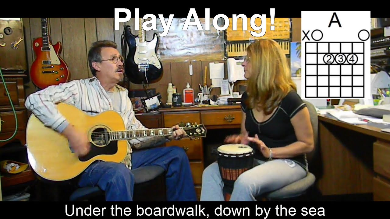 Under The Boardwalk With Lyrics Chords Acoustic Cover C37 Youtube