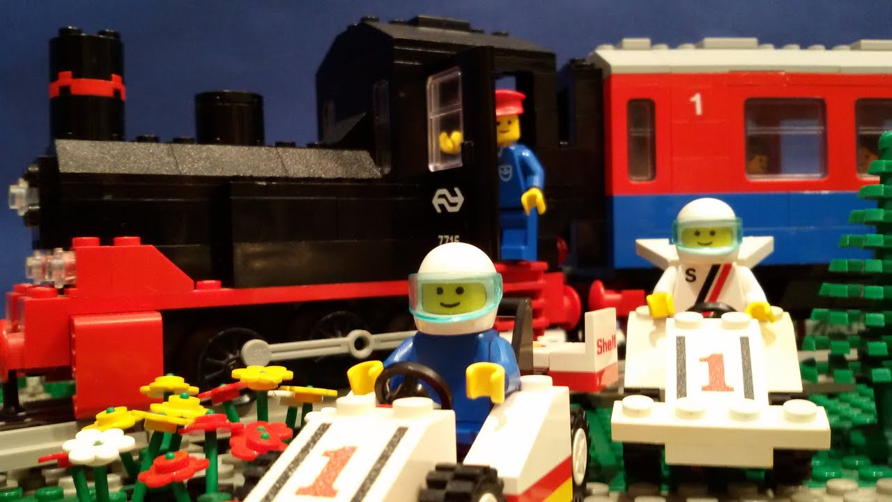 LEGO Train Crash - Stop Motion video - YouTube