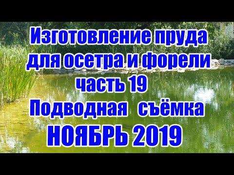 Изготовление пруда для осетра и форели (часть 19) Подводная съёмка НОЯБРЬ 2019