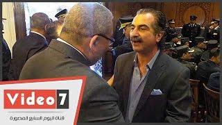 """عصام شلتوت فى عقد قران الضابط المصاب: """"شرف لينا أننا فى الفرح"""""""