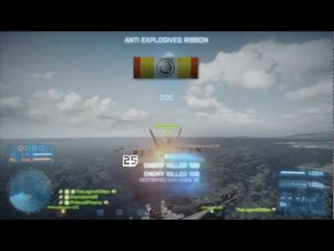 Battlefield 3 - Jet vs. 25 C4/Explosives + Roadkill