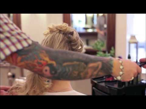 EXCLUSIVE chignon with rock & roll embellishment bridal hair tutorial