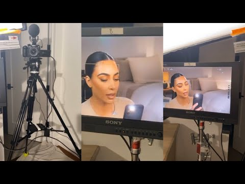 Kim Kardashian Filming A Confessional For KUWTK On Her Own