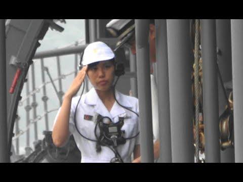 海上自衛隊 練習艦「やまゆき(山雪)」「せとゆき(瀬戸雪)」下関出港