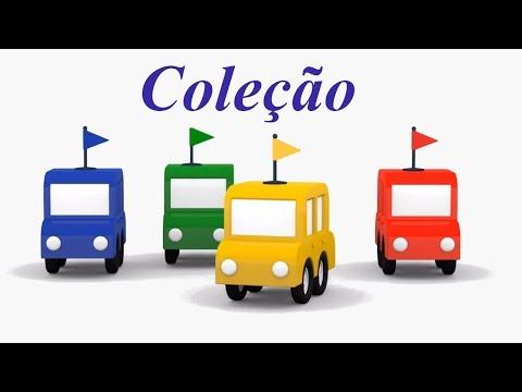 Carros de corrida. 4 carros coloridos. Coleção.