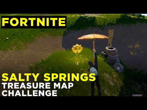 Follow The Treasure Map Found In Salty Springs - Fortnite Challenge Location