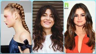 Nowoczesne pomysły na długie fryzury dla okrągłej twarzy