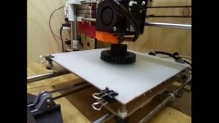 Live 3D Printer -Carbon Fiber gear for shredder