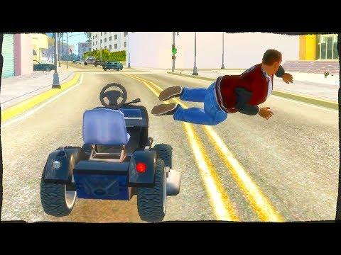 GTA Sa With Euphoria Physics Ragdolls   Grand Theft Auto IV San Andreas Gameplay