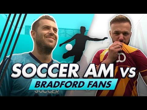 Soccer AM vs Bradford Fans + Robbie Fowler and Wretch 32 | Trampoline Volley Challenge