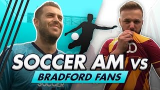 Soccer AM vs Bradford Fans + Robbie Fowler and Wretch 32   Trampoline Volley Challenge
