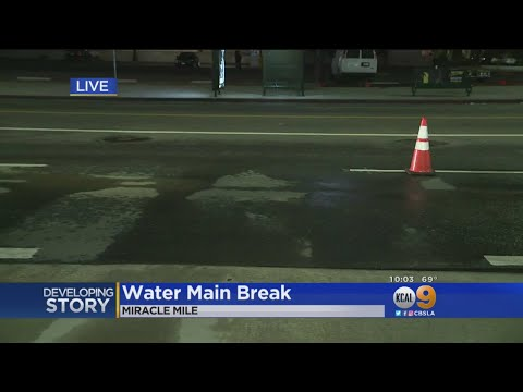 Water Main Break In Miracle Mile Could Cause Commute Headaches