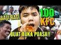 SULTAN BERBAGI 100 KFC DIJALANAN UNTUK BUKA PUASA!! NGABUBURIT BERFAEDAH!