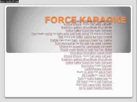 Khwabon Khwabon - Force Karaoke instrumental