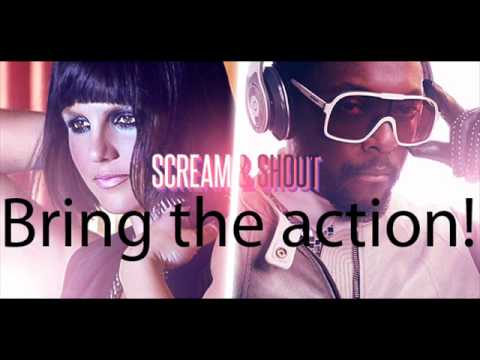Will.I.Am Ft. Britney Spears-Scream and Shout (lyrics video)