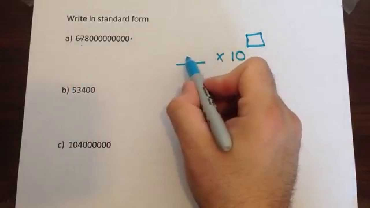 Converting ordinary numbers to standard form 1 youtube converting ordinary numbers to standard form 1 falaconquin