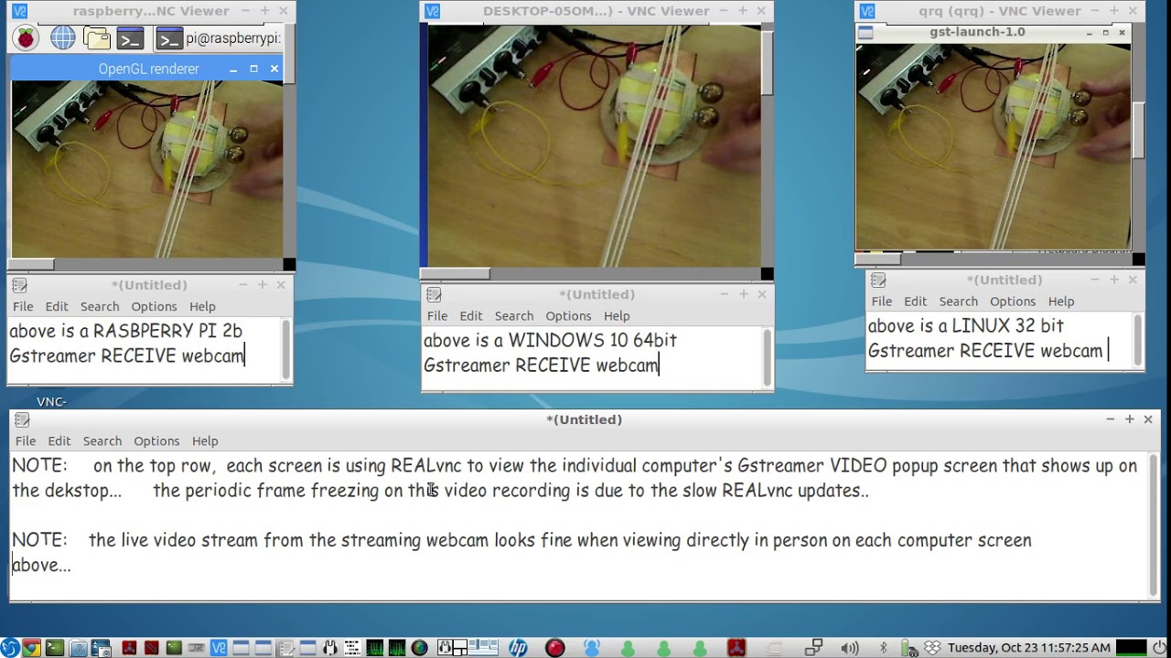 using GSTREAMER to send a LIVE USB WEBCAM stream to multiple clients -  MUMBLE VOICE CHAT example