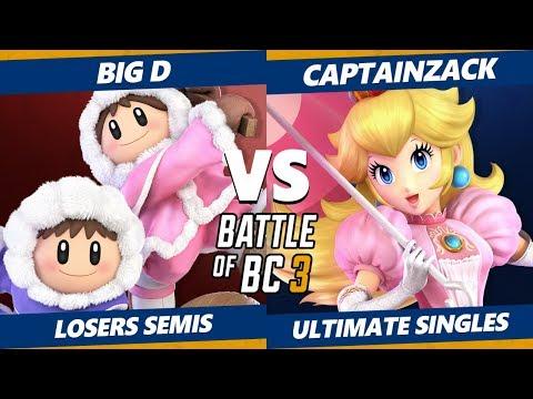 Smash Ultimate Tournament - Big D (Dedede, Ice Climbers) Vs CaptainZack (Daisy, Peach) BoBC3 SSBU LS thumbnail